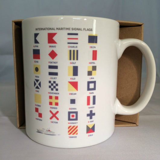 Mug ~ International Maritime Signal Flags Alphabet design ideal gift