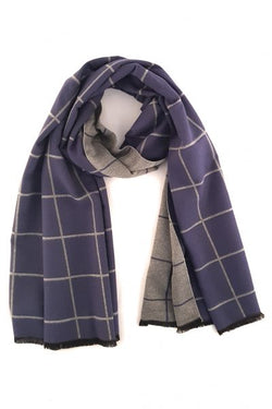 Scarf ~ Zelly 4087 Soft touch Blue and grey design