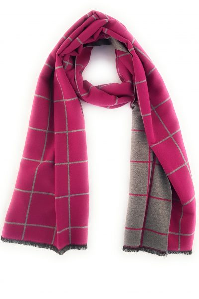 Scarf ~ Zelly 4087 Soft touch Pink and grey design