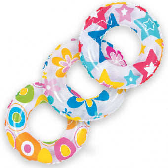 Inflatable - 847219 Colourful Swim Ring 50cm (20