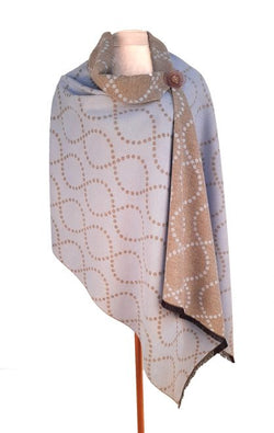 Scarf ~ Zelly 4765 Soft touch Baby Blue squiggle design