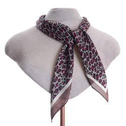 Scarf ~ Zelly 5078 Grey/Pink Animal Square Necktie