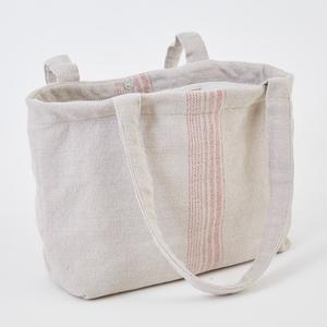Weaver Green Bag ~ Antibes - shopping/beach bag 100% recycled with the appearance of real French linen