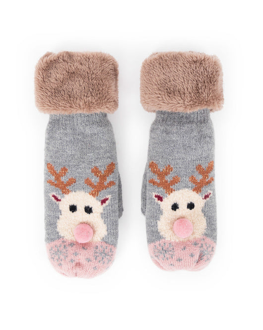 Mittens ~ Powder COS22 Cosy Rudolph Ladies Mittens Slate