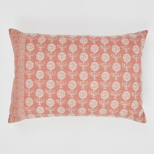 Cushion ~ Weaver Green Marigold Coral cushion 100% recycled 60 x 40cm