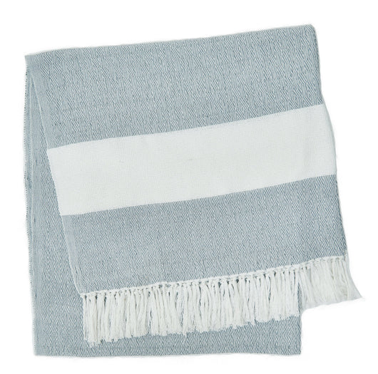 Blanket throw ~ Hammam - Cornflower - 100% recycled environmentally friendly
