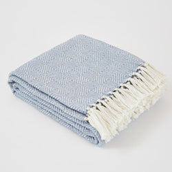Weaver Green Blanket throw ~ Diamond - Lavender - ethically produced
