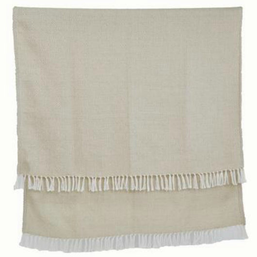 Blanket throw ~ Diamond - Linen - elegant colour range ethically produced