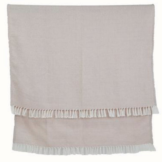 Blanket throw ~ Diamond - Shell - natural soft colour ethically produced