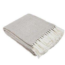 Blanket throw ~ Diamond - Chinchilla - ethically produced