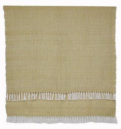 Blanket throw ~ Diamond - Gooseberry/white - stunning eco-friendly textiles