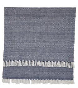 Blanket throw ~ Diamond range - Navy/white perfect for coastal style interiors
