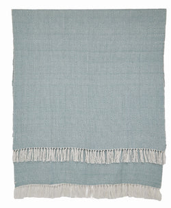 Blanket throw ~ Diamond range - Teal/white - a fresh inviting colour