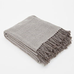 Blanket throw ~ Diamond - Tabby - ethically produced