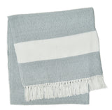 Blanket throw ~ Hammam - Dove Grey - 200 x 100 ethically produced