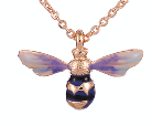 Jewellery ~ close up Fable 61152 Enamelled Long Bee Necklace