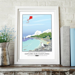 Print ~ Explore Our Coastlines prints A3