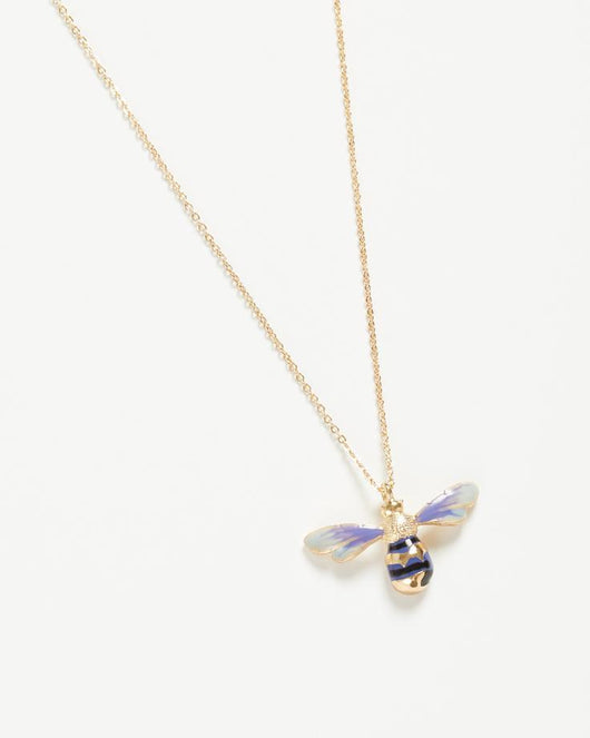 Jewellery ~ Fable 61152 Enamelled Long Bee Necklace