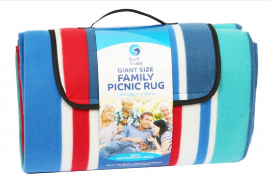 Beach - LR07 Picnic rug deluxe family size striped