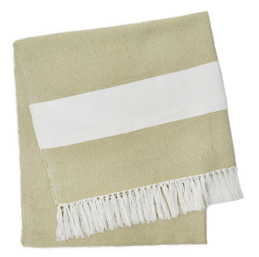 Blanket throw ~ Hammam - Gooseberry - 100% recycled environmentally friendly