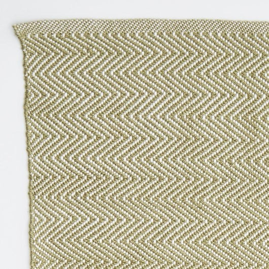 Close up Rug ~ Herringbone range ~ Lichen ~ Weaver Green 100% recycled