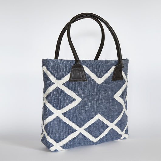 Bag ~ Juno range - Navy - ethnical recycled from plastic bottles with soft feel of wool or jute