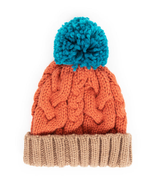 Hat ~ Powder KAR5 Karina Pompom hat - tangerine mix