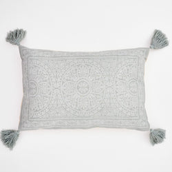 Cushion ~ Weaver Green Kas Dove Grey cushion 100% recycled 60 x 40cm