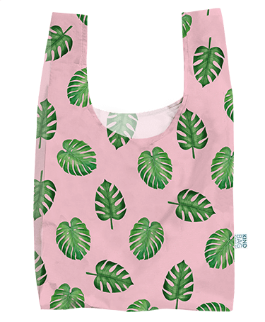Bag  ~ Palm design 100% recycled plastic reusable shopping bag