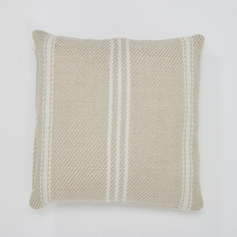 Cushion lightweight ~ Weaver Green Oxford Stripe - Linen - 45x45cm stylish colour ethically produced