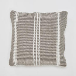 Oxford Stripe cushion - Weaver Green Monsoon - 45x45cm stylish colour ethicallly produced