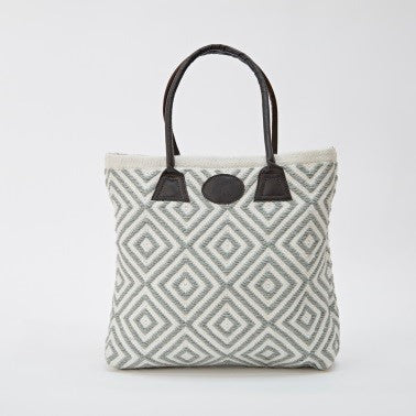Weaver Green Bag ~ Oslo - Dove Grey - stylish eco-friendly tote