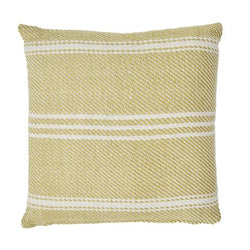 Cushion lightweight ~ Weaver Green Oxford Stripe - Gooseberry - 45x45cm ethically produced