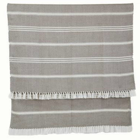 Blanket throw ~ Oxford stripe - Monsoon 230 x 130cm 100% recycled plastic with soft texture