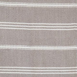 Blanket throw ~ Oxford stripe - Monsoon close up picture 230 x 130cm 100% recycled plastic with soft texture