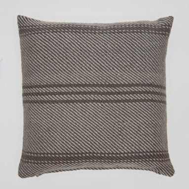 Oxford Stripe cushion - Weaver Green Tabby - 45x45cm ethically produced