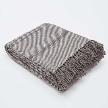 Oxford stripe - Tabby grey colours 100% recycled