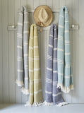 Oxford stripe blankets - striking colours 100% recycled
