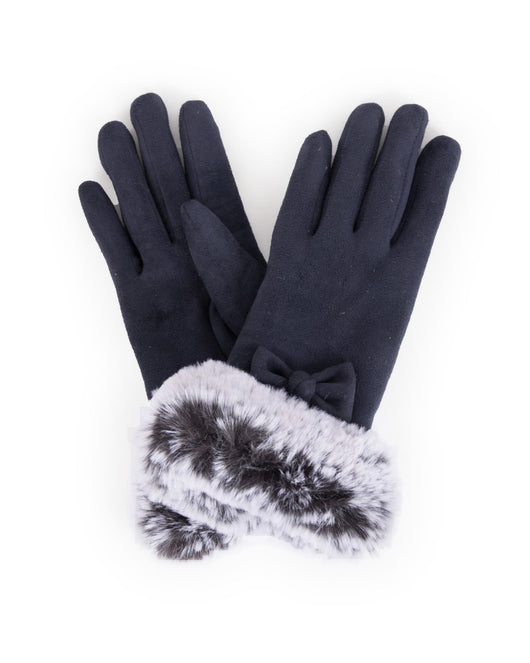 Gloves ~ Powder PHI10 Phillipa Faux Suede Gloves Navy