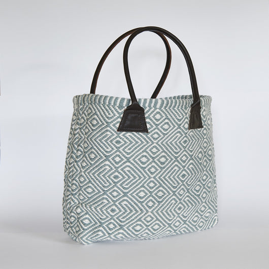 Bag ~ Provence range - Teal - ethically recycled