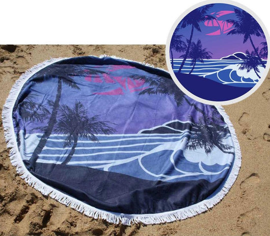 Beach - A1052-150-01 Sola round towel - blue