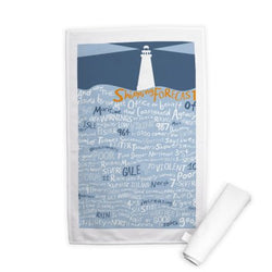 This high quality Tea Towel shows the maritime signal flags in a modern and graphic style, a necessity for any seafarer or nautical themed kitchen.
