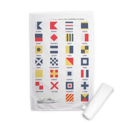 Tea towel a wonderful addition to any nautical themed kitchen
