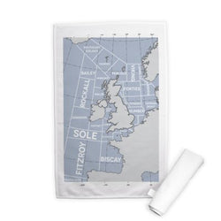 A lovely present for any seafarer, this high quality Tea Towel shows the shipping areas in a modern and graphic style; a necessity for any nautical themed kitchen