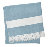 Blanket throw ~ Hammam - Teal - 100% recycled environmentally friendly