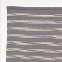 Close up Rug ~ Henley Stripe range ~ Clay ~ Weaver Green 100% recycled