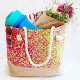 Bag ~ Sevilla Beach Bag tote -  beautiful digitally printed fabric