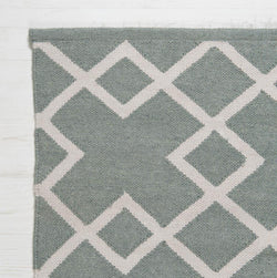 Close up Rug ~ Juno range ~ Dove Grey ~ Weaver Green 100% recycled