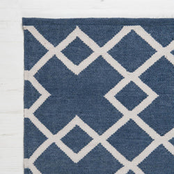 Close up Rug ~ Juno range ~ Navy ~ Weaver Green 100% recycled
