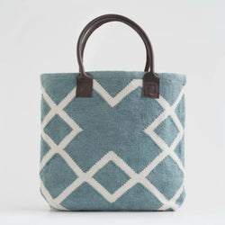 Bag Juno Teal handwoven 100% recycled